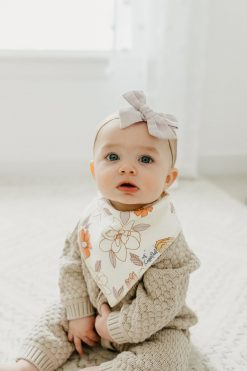 Baby Bibs Floral Pattern by Copper Pearl