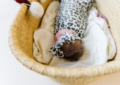 Cheetah Print Baby Headband Bow