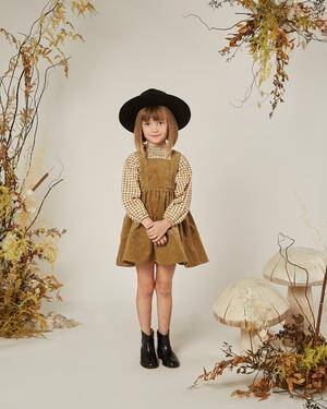 Goldenrod Children's Pinafore By Rylee & Cru