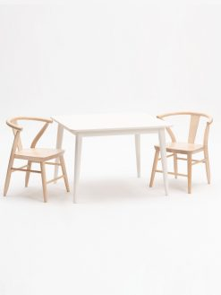 Milton & Goose Crescent Chair in White or Natural