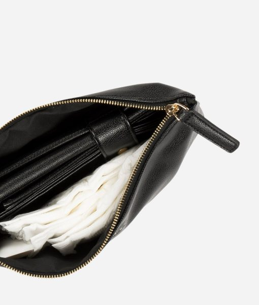 Fawn Design Changing Clutch in Black Vegan Leather