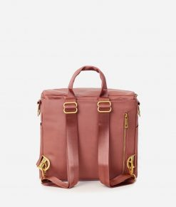 Dusty Rose Vegan Leather Diaper Bag by Fawn