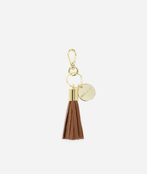 Brown Tassel Keychain for Fawn Design Diaper Bags