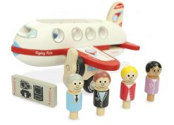 Wooden plane and passengers