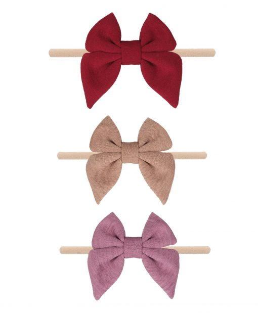 Emerson and Friends Neutral Bow Baby Headband Set