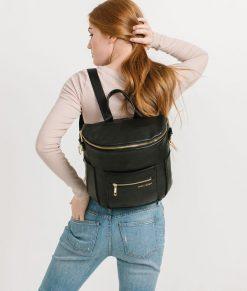Fawn Mini Diaper Bag in Black 4