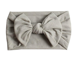 Emerson and Friends Grey Bow Baby Headband