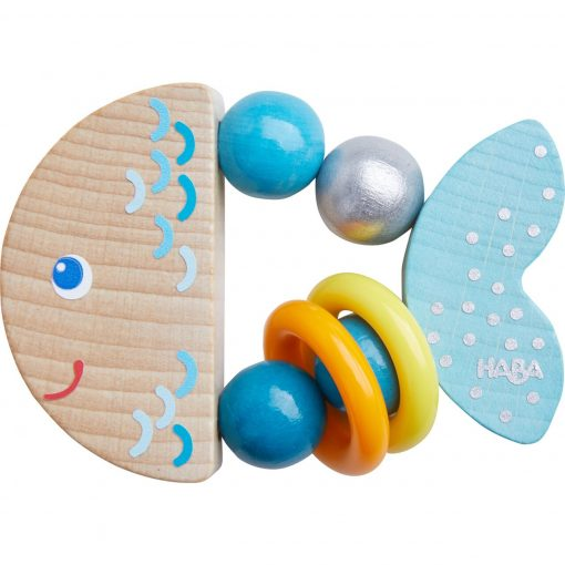 Wooden Clutching Toy Rattlefish