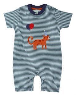 Lilly and Sid Organic Tiger Applique Romper