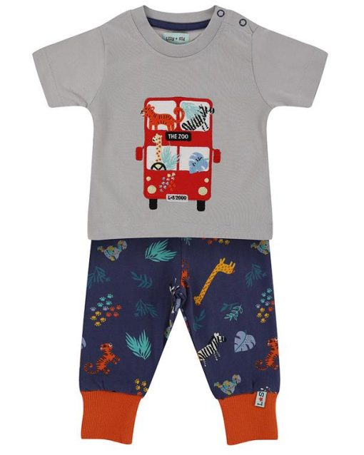 Lilly and Sid Organic Collection Safari Double Decker Bus Set