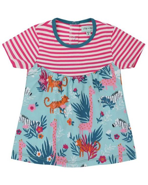 Fabric Mix Dress Safari from Lilly and Sid