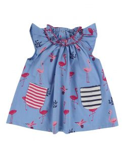 Flamingo Dress and Leggings Set Organic Lilly and Sid