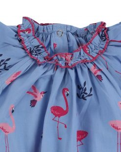 Lilly + Sid Organic Dress and Legging Set with Flamingo
