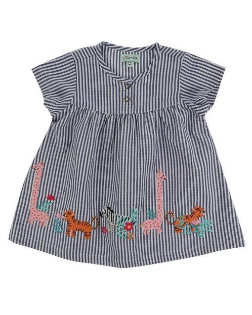Lilly & Sid Safari Applique Hem Dress