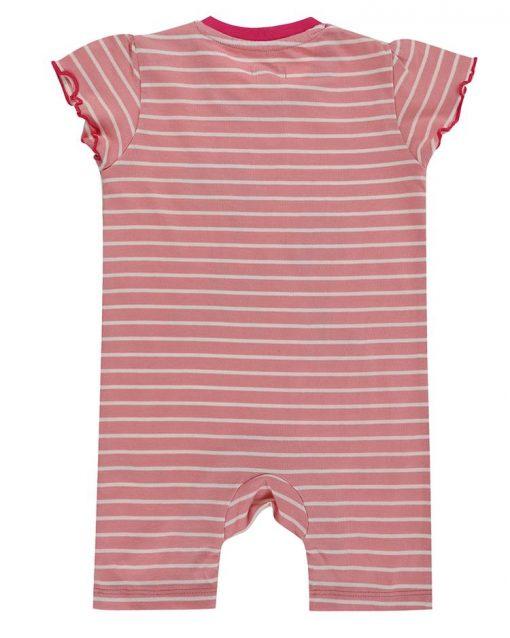 Organic Pink Striper Zebra Romper