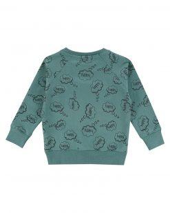 Sage Green Happy Thoughts Sweatshirt Turtledove London
