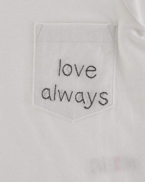 Love Embroidered Pocket T-shirt from Turtledove London