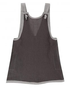 Grey Stripe Pini Dress Turtledove London