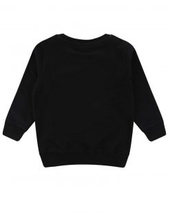 Black Sweatshirt with embroidered Be Happy Message from Turtledove London