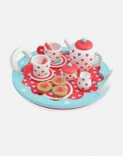 Indigo Jamm Hearts Wooden Tea Set