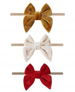 Emerson and Friends Holiday Velvet Bow Headband Set