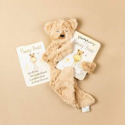 Slumberkins Honey Bear Snuggler with Board Book and Afirmation Card