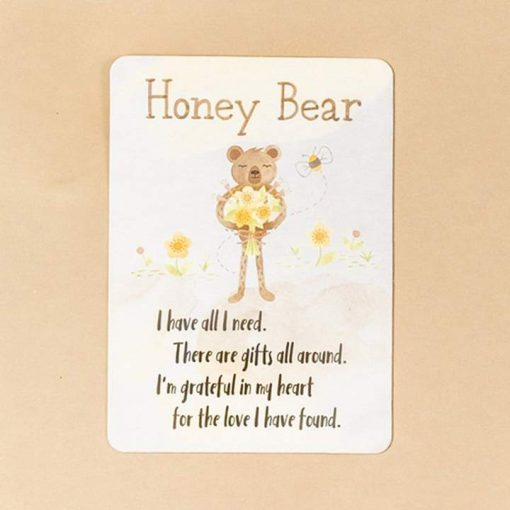 Honey Bear Grattitude Affirmation Card by Slumberkins