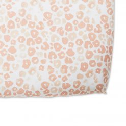 Pehr Organic Cotton Crib Sheet Poppy Blush