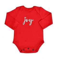 finn + emma Joy Organic Long Sleeve Graphic Bodysuit