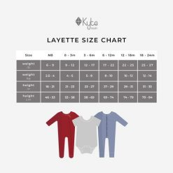 Kyte Baby Size chart for Sleepers