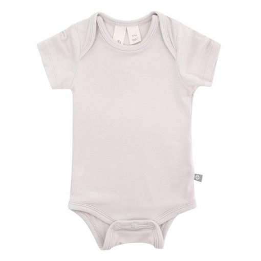 Kyte Baby Short-Sleeve Bamboo Bodysuit in Oat