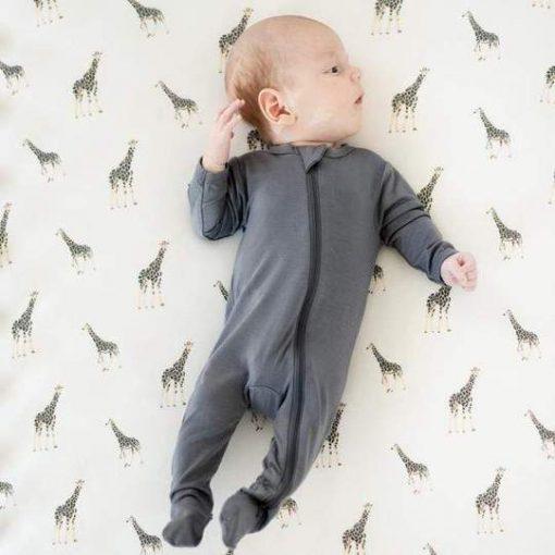 Charcoal Giraffe Chrib Sheet by Kyte Baby