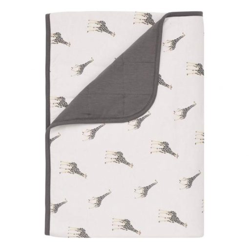 Kyte Baby Toddler Blanket in Giraffe and Charcoal