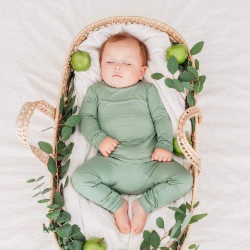 Kyte Bamboo Pajamas in Matcha