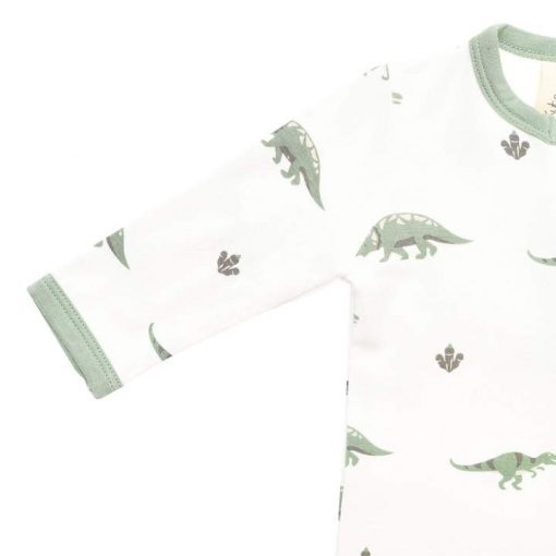 Bamboo Sleeper with Zippers and Footie Dinosaurs