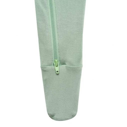 Kyte Sleeper with Zipper and Footies in Green Matcha