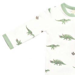 Printed Zippered Romper in Dino Kyte