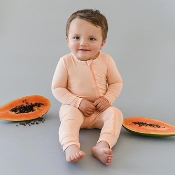 Kyte Zippered Romper in Papaya