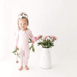 Footless Sleeper Romper in Peony Kyte