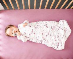 Baby Sleep Bag Pink Marble Print Limited Edition