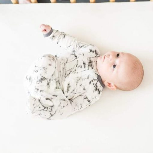 Limitied Edition Charcoal Marble Zippered Footie Pajamas by Kyte