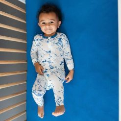 Sapphire Marble Limited Edition Baby Pajama Zippered Romper by Kyte Baby