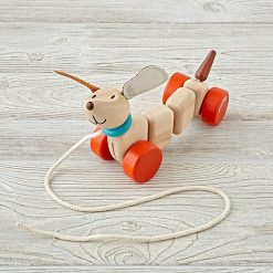PlanToys Wooden Pull-Along Happy Puppy 3