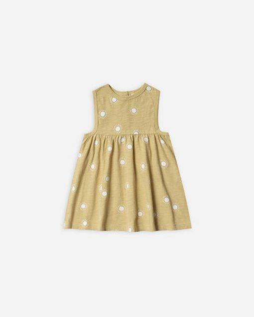 Rylee + Cru Sunburst Layla Dress yellow dress with sun pattern