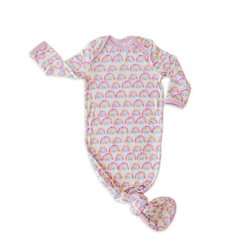 Little Sleepies Pastel Rainbows Bamboo Infant Gown