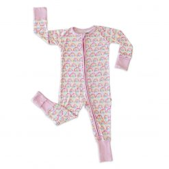 Little Sleepies Pastel Rainbow Bamboo Sleeper Romper