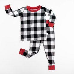 Bamboo Viscose Little Sleepies Two-Piece Pajama Set in Buffalo Plaid