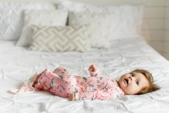 Pink Unicorns Knotted Infant Gown from Little Sleepies