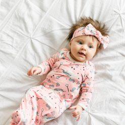 Little Sleepies Unicorns Infant Gown