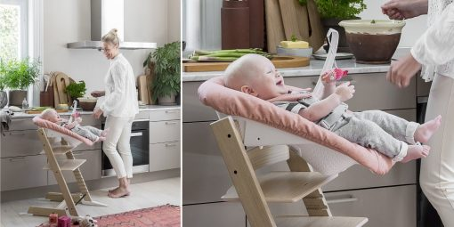 Stokke Tripp Trapp High Chair with Newborn Set - Natural / Coral